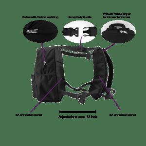 ArmorMe Double Bullet-resistant Panels Backpack black side large info