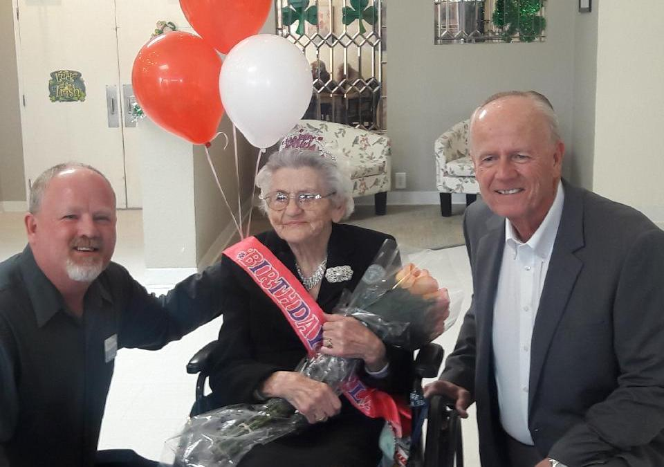 Happy 100th Birthday Lottie Hatmaker!