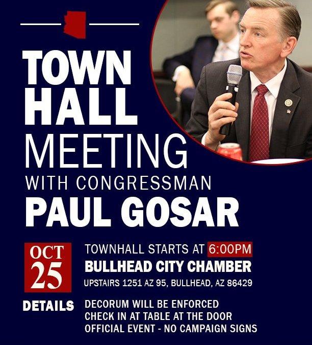 Congressman Gosar To Speak At Chamber