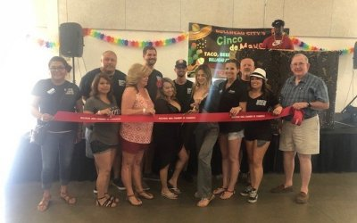 Bullhead Chamber Welcomes Ellie's With Ribbon Cutting At Music Festival