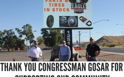 Bullhead Area Chamber of Commerce thanks Congressman Paul Gosar For His Help In Our Community