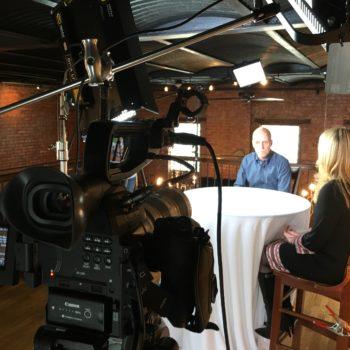 3-camera interview shoot featuring olympic gold medalist Scott Hamilton