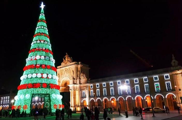 Weihnachtsbaum Lissabon Praca do Comercio