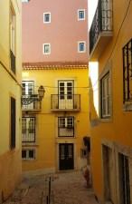 Straßen Alfama Lissabon
