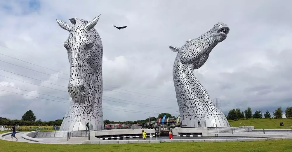 The Kelpies in Schottland - Informationen, Parken