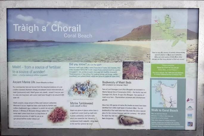 InfoTafel Coral Beach