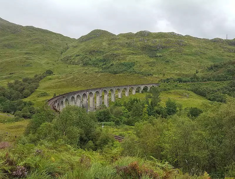 Tipps und Zeiten für die Fahrt des Harry Potter Zuges über das Glenfinnan Viaduct