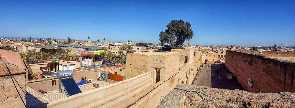 Marrakesch Tipp: Blick über die Stadt vom Palais El Badii