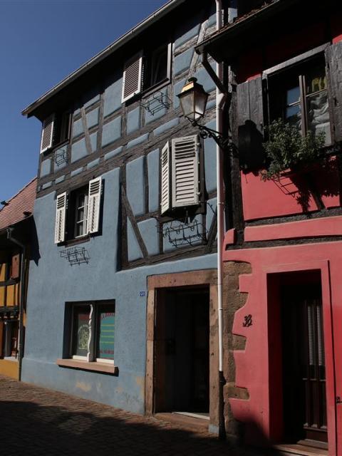 Knallbunte Fachwerkhäuser Alsace