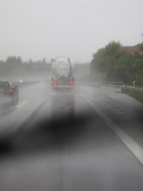 Die Reise nach Kroatien bei Regen