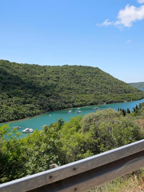 Blick auf den Limski Fjord, Kroatien, Istrien