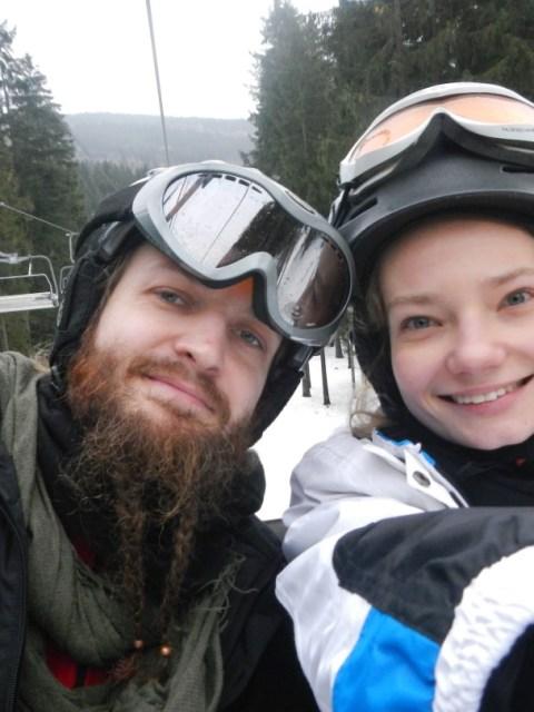 Selfie am Ski Hang von Spicak