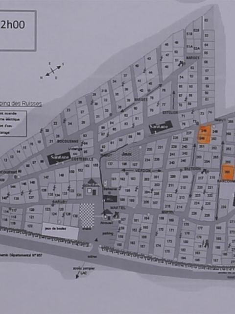 Campingplatz Municipal Les Ruisses Plan