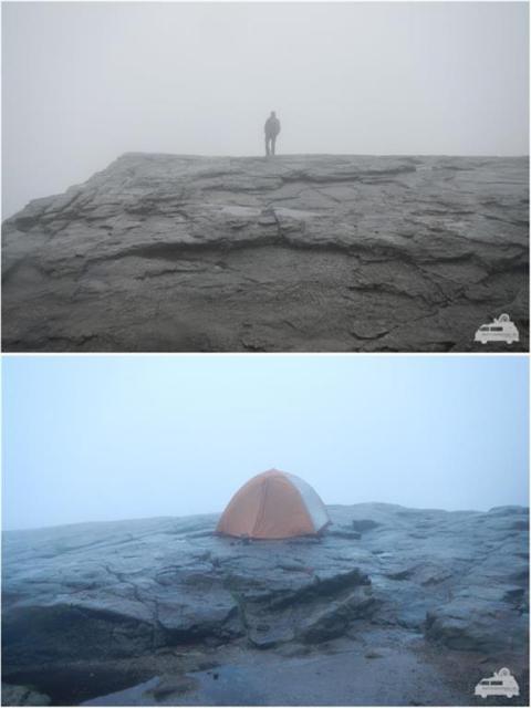 Preikestolen im Nebel