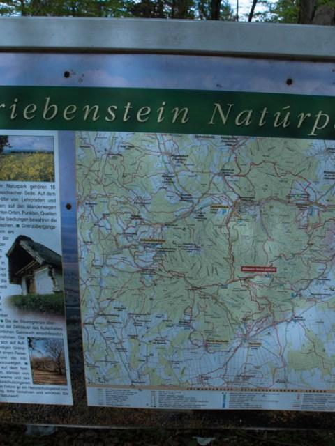 Wanderkarte Grenzberg bei Ungarn