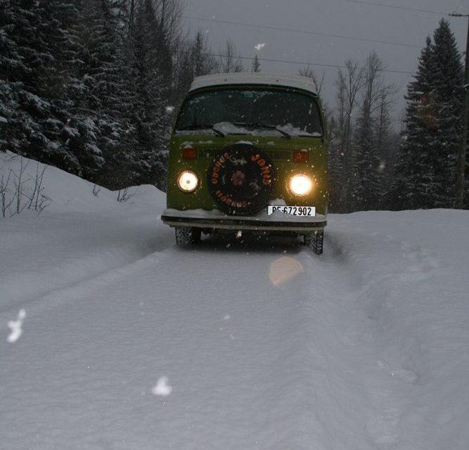 Auch ein Winter in Kanada kann dem Bulli nichts anhaben
