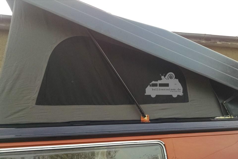 T3 Bus mit neuem Faltenbalg am Reimo Hattrick Dach