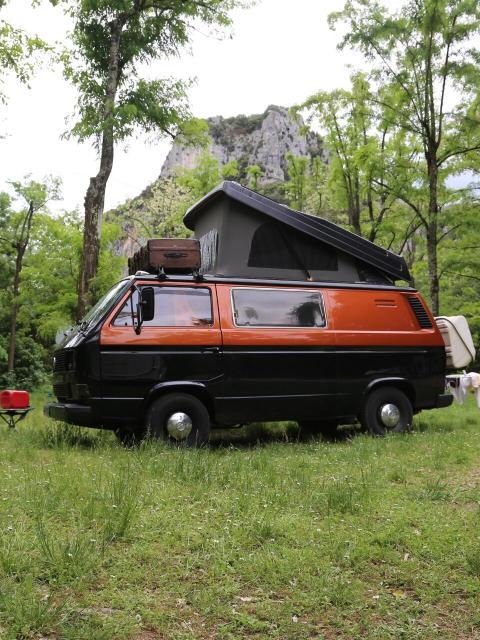 VW Bus Roadtrip Frankreich