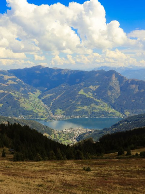 Blick auf Zell am See Bergpanorama