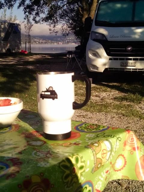 Camping Platz direkt am Wolfgangsee mit eigenem Strandzugang