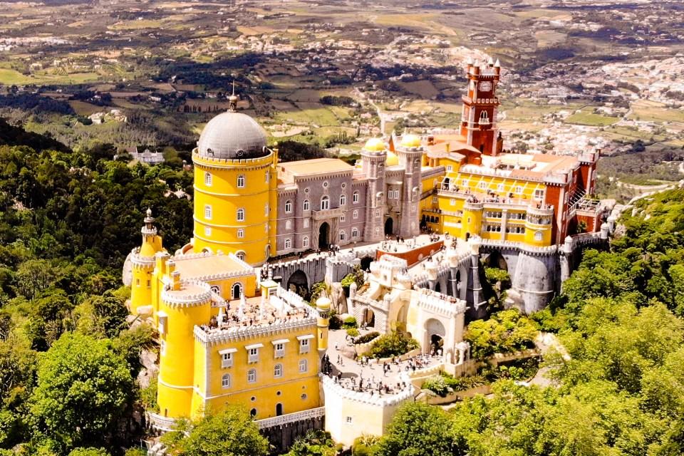 Pena Palast von oben