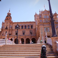 Andalusien Sevilla Plaza Espana