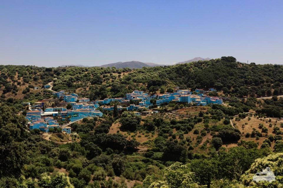 Das Schlumpfdorf Juzcar in Andalusien