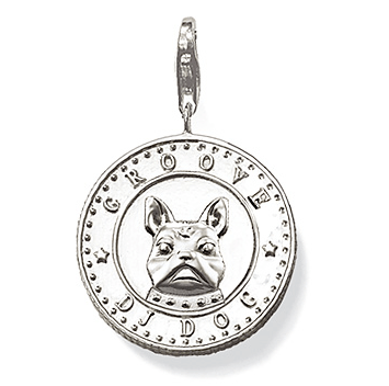 Thomas Sabo French Bulldog medallion
