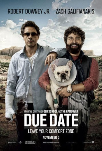 Due Date movie poster French Bulldog Robert Downey