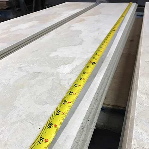 large format concrete look tiles