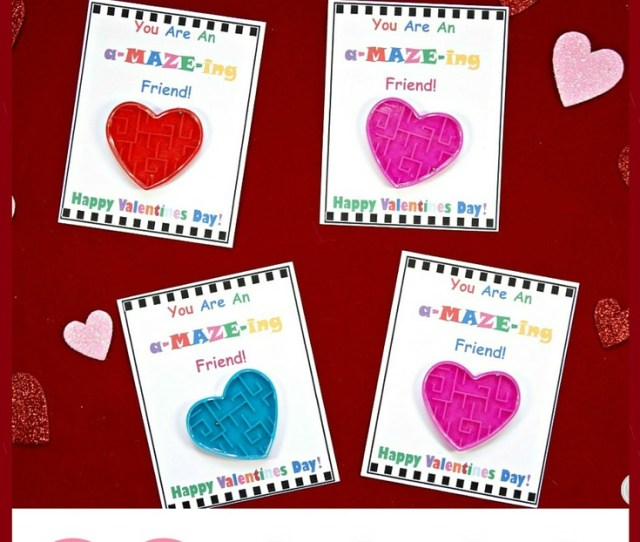 Diy Valentines Day Cards For Kids W You Are An Amazeing Friend Candy Free Card
