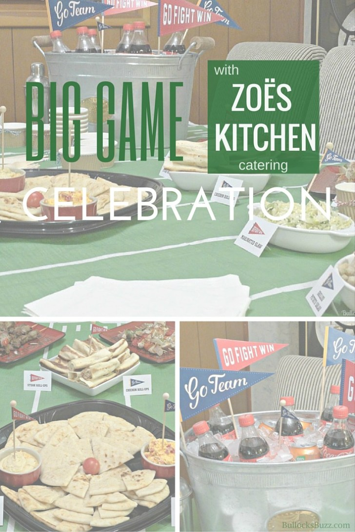 Big Game Celebration Home Gating Party Zoes Kitchen Catering