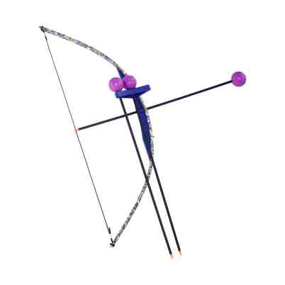 Purple Camo Toy Bow and Arrow Trainer
