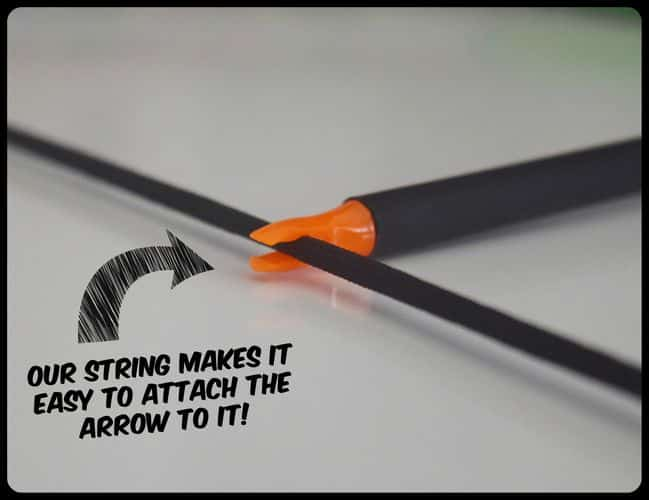 Easy stabilizing bow and arrow