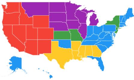 us map regional interest