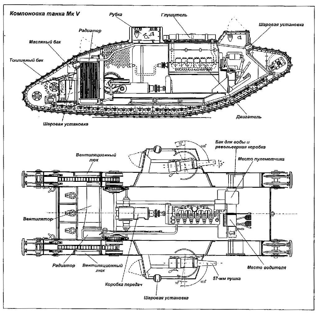 Ww1 Tank Blueprint Drawings