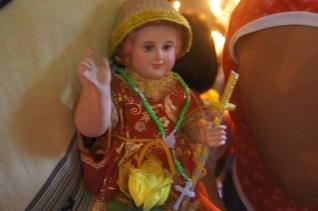 Santo Niño in full regalia for blessing too.