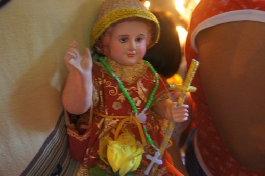 Santo Niño in full regalia for blessing too.