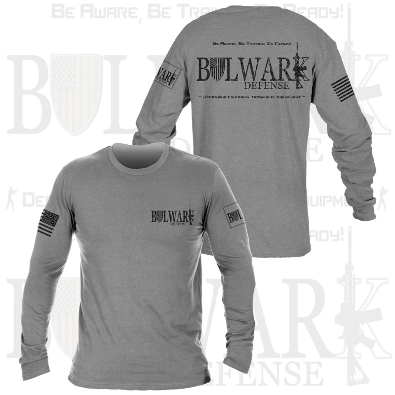 BULWARK DEFENSE - TShirt - Long Sleeved - Heather Gray