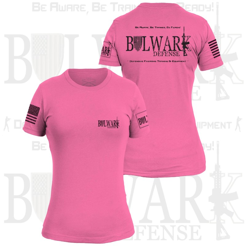 BULWARK DEFENSE - TShirt - Hot Pink (Female Cut)