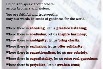 Doa yang indah dari Bapa Paus