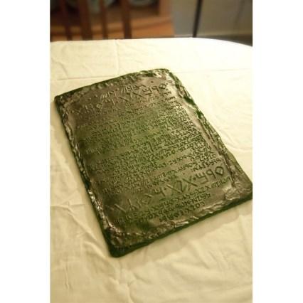 Replica of Emerald Tablet