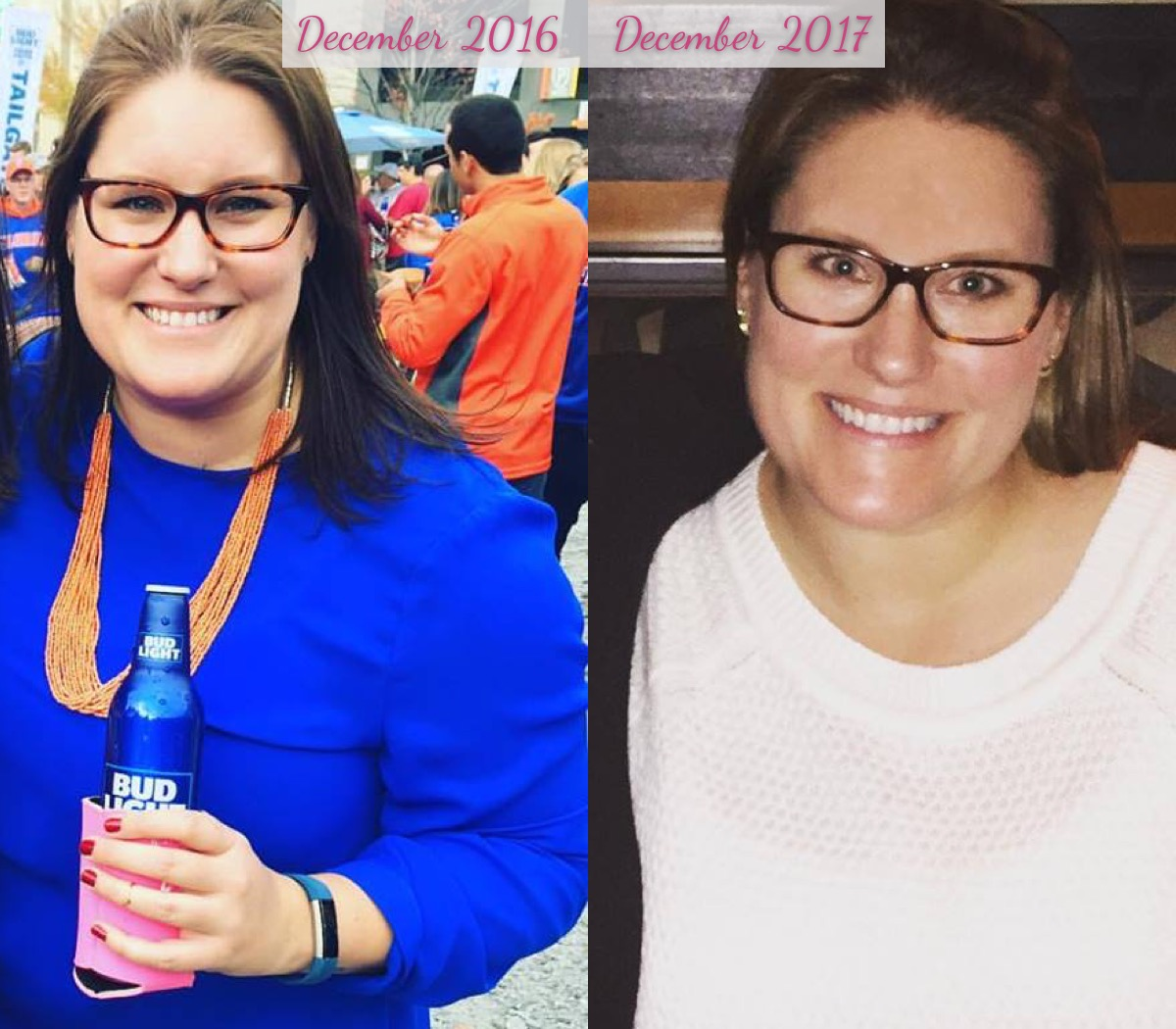 Before and After Weight Loss Side By Side By Bumble and Bustle