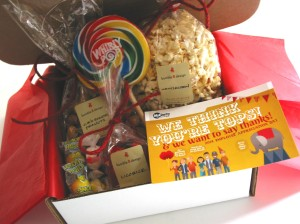 bumble B design - Carnival Gift Boxes for Administrative Professionals Day Gifts, Seattle WA