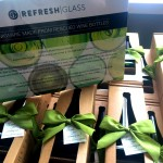bumbleBdesign - Refresh Glass - recycled glasses & carafe - party favors - custom corporate gifts, Seattle