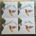 bumbleBdesign-Flora Forager hummingbird prints - Bookhand calligraphy - moon phases for table names, Seattle WA