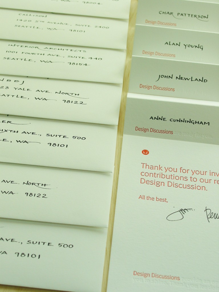 Block calligraphy for envelopes & place cards