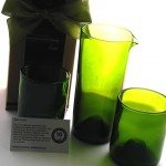 bumbleBdesign - Refresh Recycled Glass - glasses & carafe made from wine bottles eco-friendly gifts & housewares