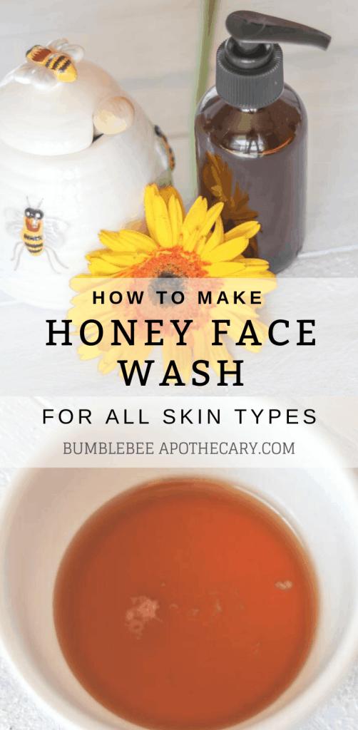 Honey face wash for all skin types and honey on skin benefits #honey #facewash #diy