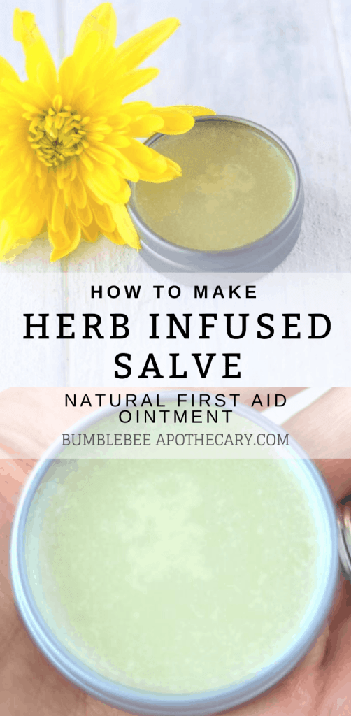How to make herb infused salve #salve #herbs #diy